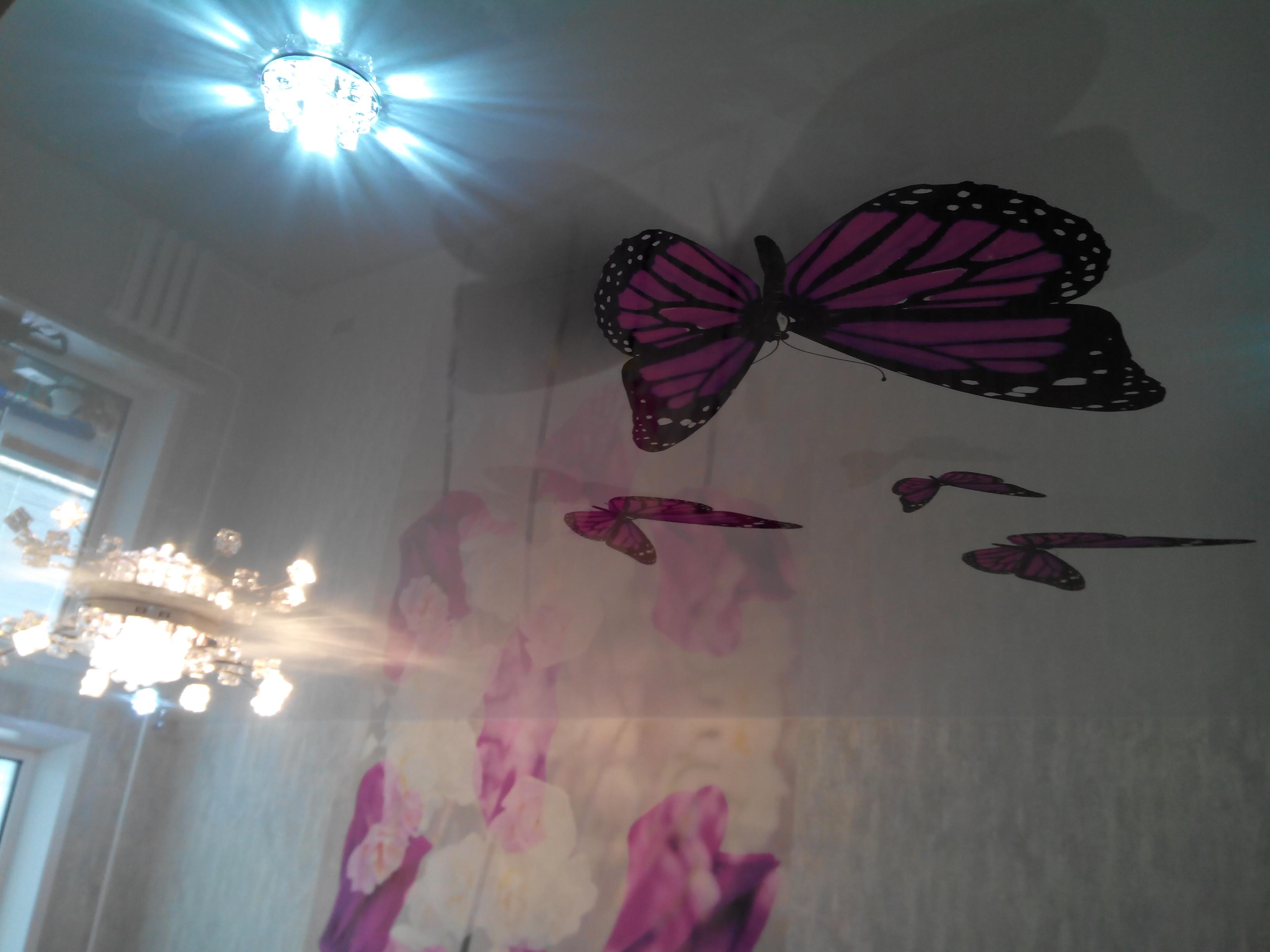 натяжные потолки фото цена монтаж в Самаре глянцевые