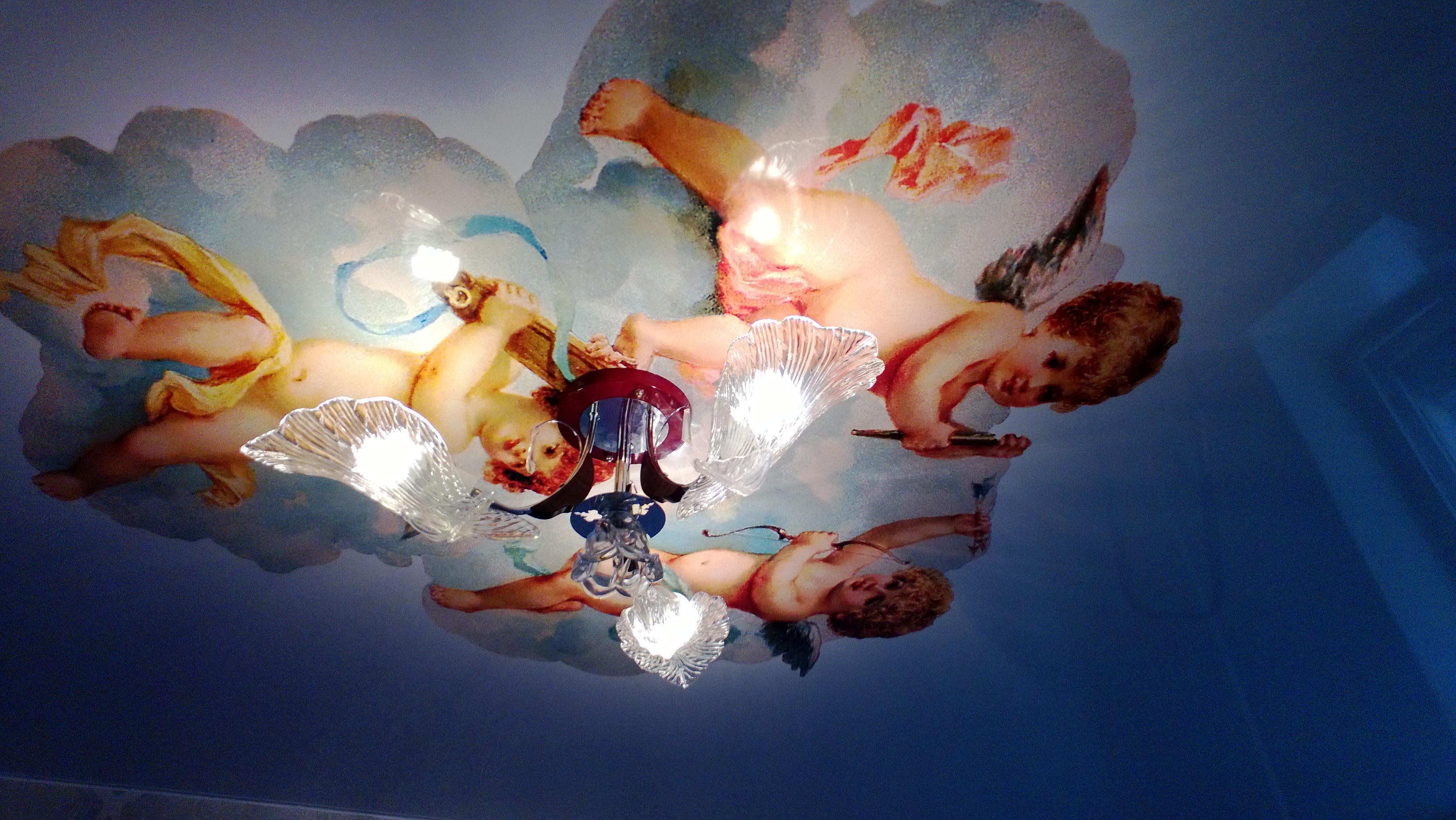 натяжные потолки фото установка цена двухуровневые матовые тканевые в Нижнем Новгороде