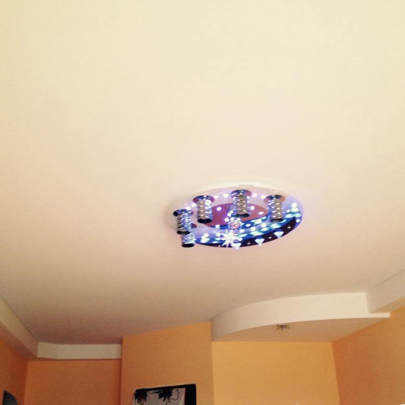 натяжные потолки фото глянцевые двухуровневые в Волгограде