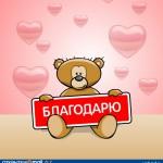 Благодарность от Клиента Лебедев Евгений Дмитриевич (г. Нижний Новгород)